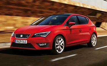 Röd SEAT Leon